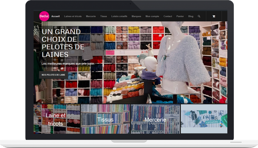 Exemple de site e-commerce (WordPress + WooCommerce) : Déclic