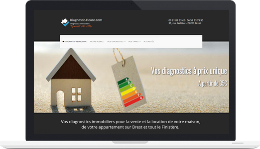 Exemple de site joomla : Diagnostc-Heure