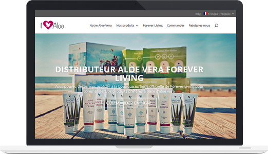 Exemple de site WordPress : Aloe vera Forever