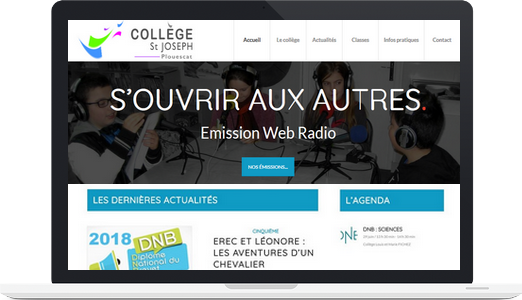 Exemple de site WordPress : Collège Saint Joseph