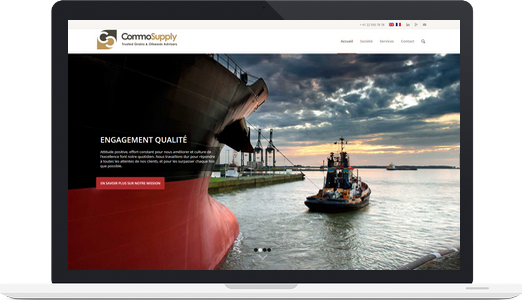Exemple de site wordpress : CommoSupply