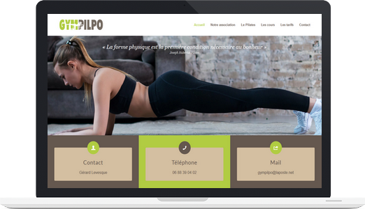 Exemple de site WordPress : GymPilpo