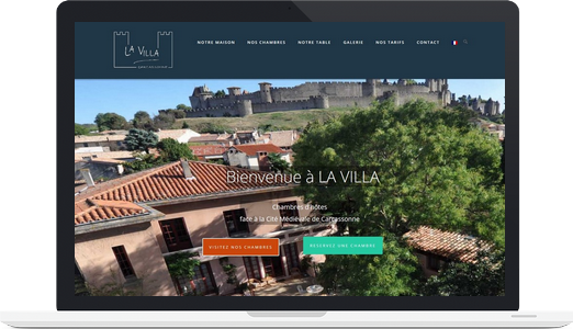 Exemple de site WordPress : La Villa