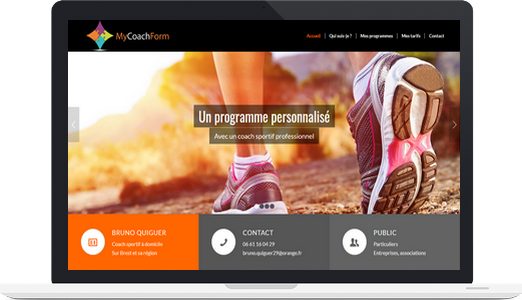 Exemple de site WordPress : MyCoachForm